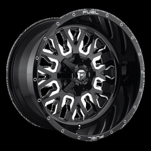22x10 5x5.5/5x150 5.89BS D611 Stroke Gloss Black - Fuel Off-Road