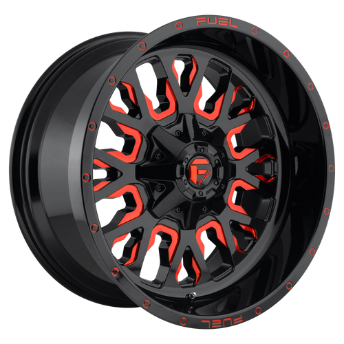 20x10 6x5.5/6x135 4.75BS D612 Stroke Gloss Red - Fuel Off-Road