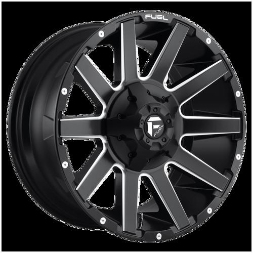 20x9 5x5/5x5.5 5.79BS D616 Contra Matte Black Milled - Fuel Off-Road