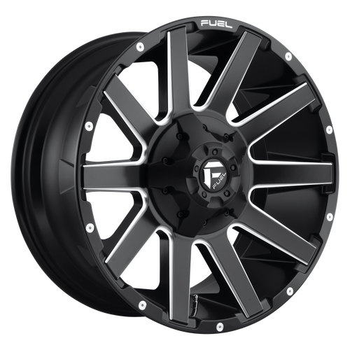 22x12 6x5.5/6x135 4.81BS D616 Contra Matte Black Milled - Fuel Off-Road