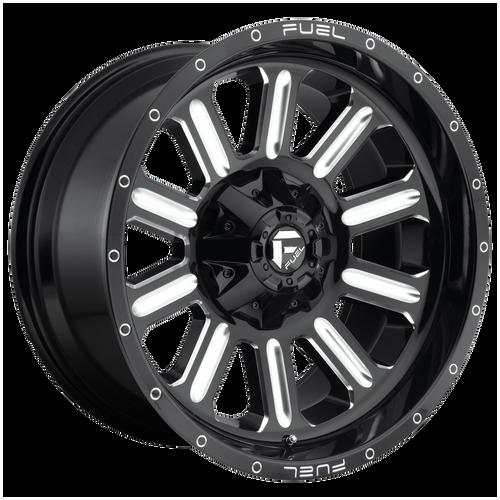 22x12 6x5.5/6x135 4.73BSD620 Hardline Gloss Black Milled - Fuel Off-Road