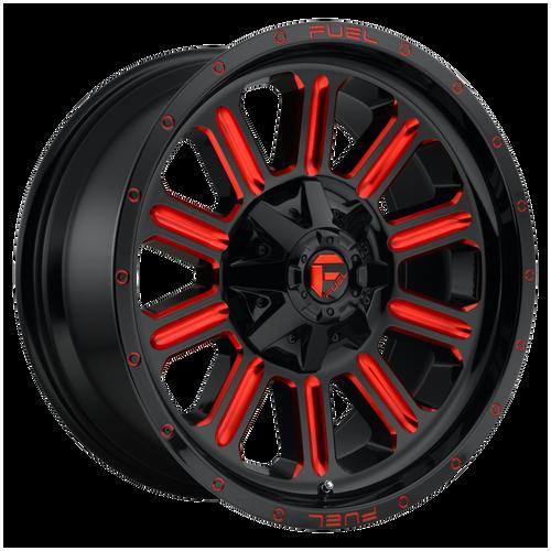 22x12 6x5.5/6x135 4.73BS D621 Hardline Gloss Black w/Red - Fuel Off-Road
