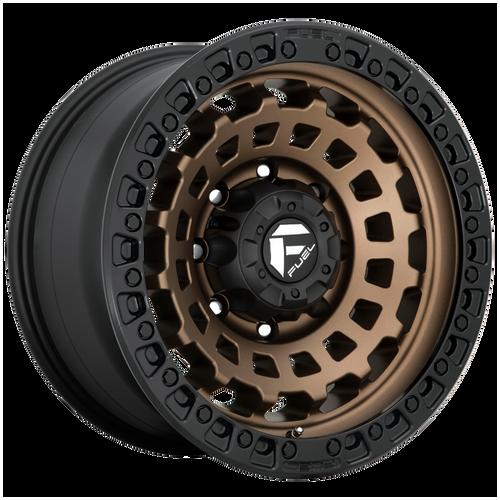 17x9 8x180 5.04BS D634 Zephyr Matte Bronze - Fuel Off-Road