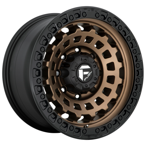 18x9 8x170 4.53BS D634 Zephyr Matte Bronze - Fuel Off-Road
