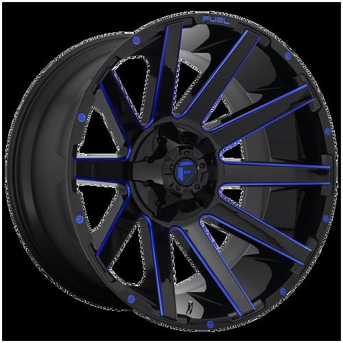 22x10 6x5.5/6x135 4.75BS D644 Contra Gloss Black Blue - Fuel Off-Road