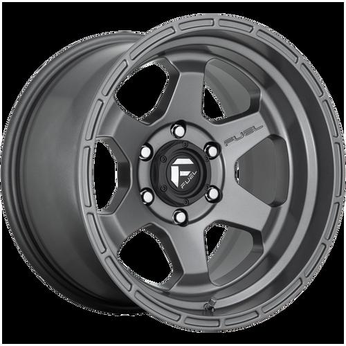 17x10 6x5.5 4.79BS D665 Shok Matte Gunmetal - Fuel Off-Road