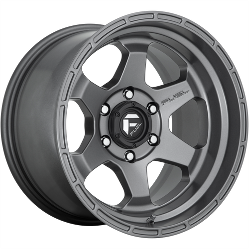 18x9 6x135 4.53BS D665 Shok Matte Gunmetal - Fuel Off-Road