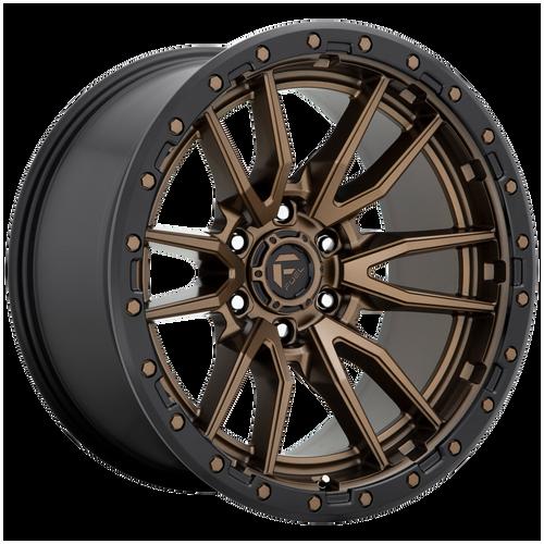 22x12 8x6.5 4.77BS D681 Rebel Matte Bronze Black - Fuel Off-Road