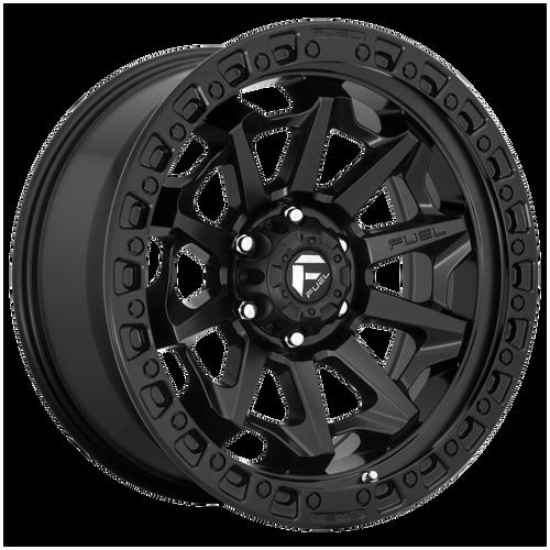 18x9 6x5.5 5.04BS D694 Covert Matte Black - Fuel Off-Road