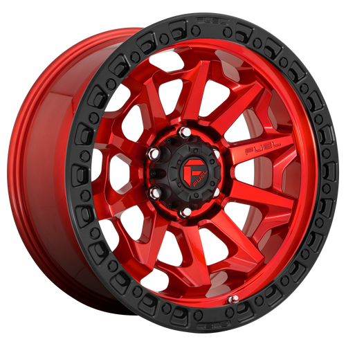 18x9 5x150 5.79BS D695 Covert Candy Red Black Bead Ring - Fuel Off-Road