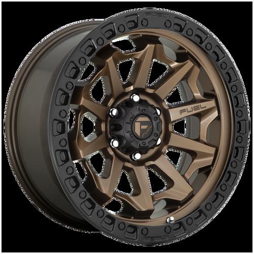 18x9 5x5.5 5.04BS D696 Convert Bronze w/Black Lip - Fuel Off-Road