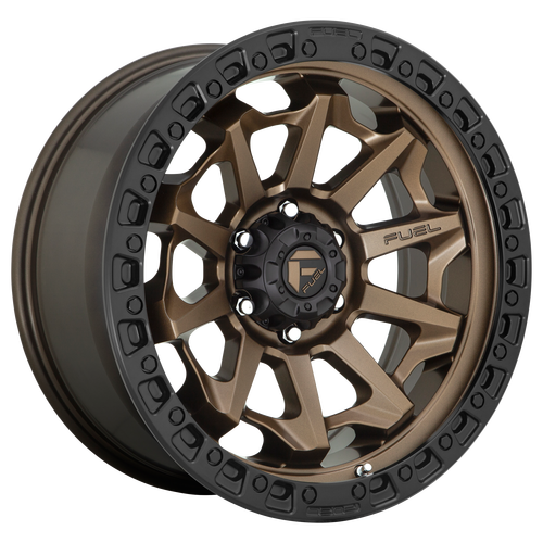 20x9 8x170 5.04BS D696 Convert Bronze w/Black Lip - Fuel Off-Road