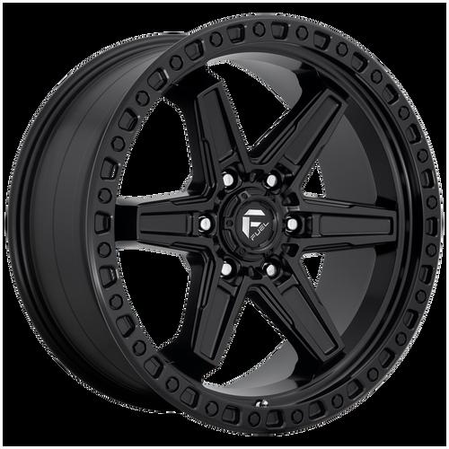 17x9 6x135 4.53BS D697 Kicker Matte Black - Fuel Off-Road
