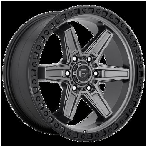20x9 6x5.5 5.79BS D698 Kicker Matte Gunmetal Black BR - Fuel Off-Road
