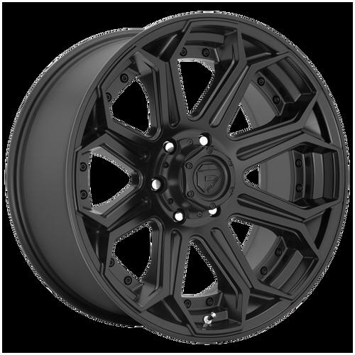 22x10 8x6.5 4.79BS D706 Siege Matte Black - Fuel Off-Road