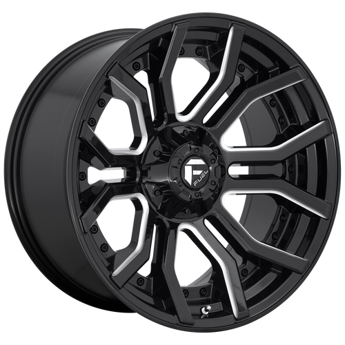 24x12 8x6.5 4.77BS D711 Rage Black/Milled - Fuel Off-Road