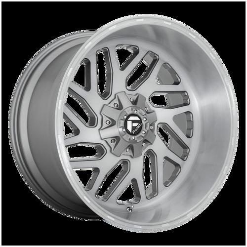22x12 6x5.5/6x135 4.77BS D715 Triton Platinum Tinted Clear - Fuel Off-Road