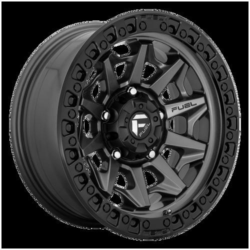 18x9 5x150 5.79BS D716 Covert Matte Gunmetal Black BR - Fuel Off-Road