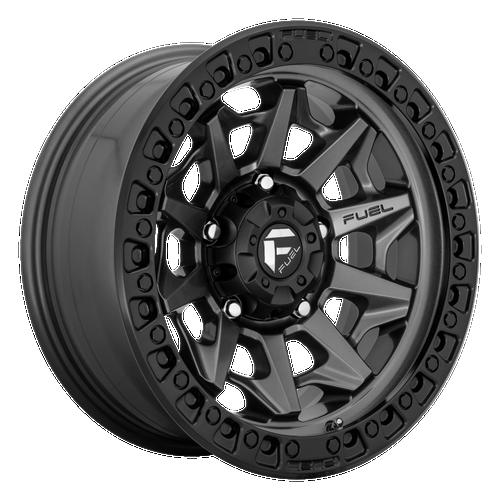 20x9 6x135 5.79BS D716 Covert Matte Gunmetal Black BR - Fuel Off-Road