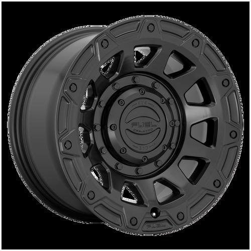 17x9 5x4.5/5x5 4.53BS D729 Tracker Satin Black - Fuel Off-Road