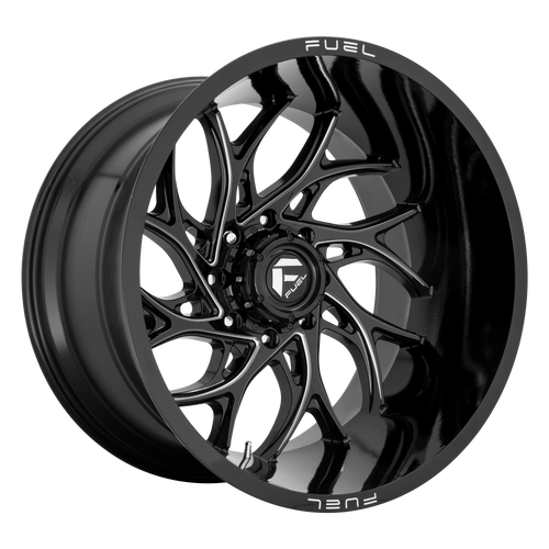 24x12 5x5 4.77BS D741 Runner Gloss Black - Fuel Off-Road