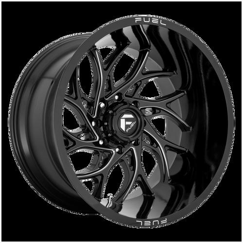 26x14 8x6.5 4.55BS D741 Runner Gloss Black - Fuel Off-Road