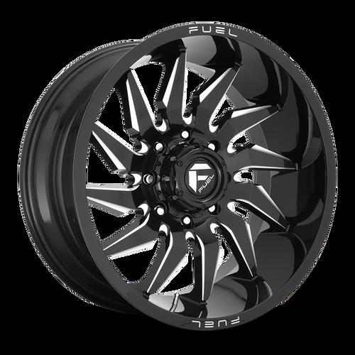 22x12 8x6.5 4.77BS D744 Saber Gloss Black - Fuel Off-Road