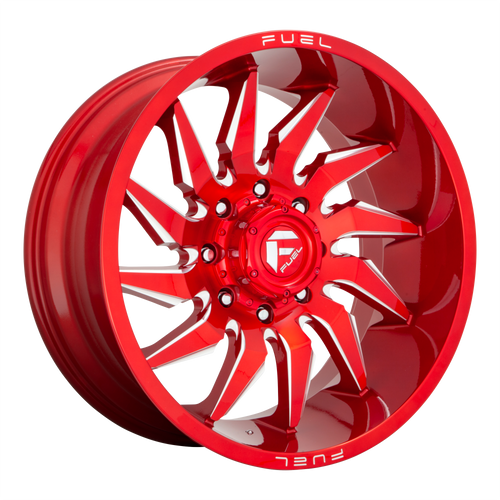 22x12 8x6.5 4.77BS D745 Saber Candy Red - Fuel Off-Road