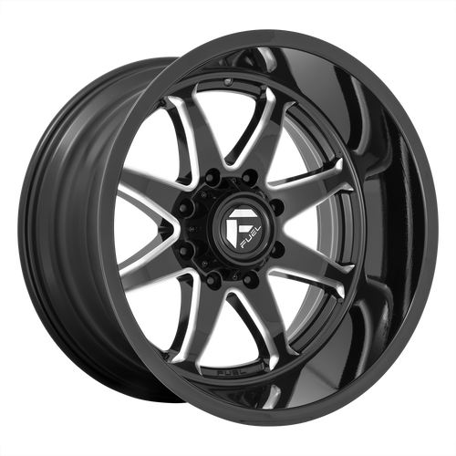 20x10 8x6.5 4.79BS D749 Hammer Gloss Black Milled - Fuel Off-Road