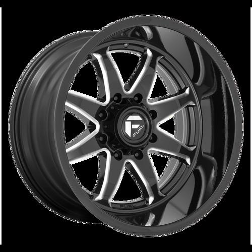 20x9 6x5.5 5.04BS D749 Hammer Gloss Black Milled - Fuel Off-Road