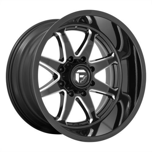 22x10 5x150 4.79BS D749 Hammer Gloss Black Milled - Fuel Off-Road