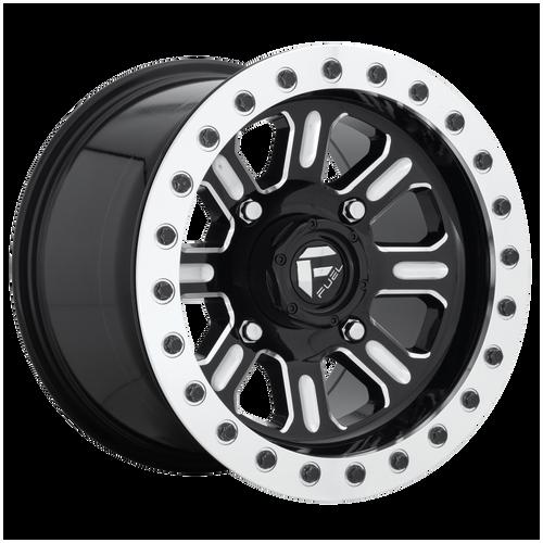 15x7 4x137 5.5BS D910 Hardline Gloss Black Milled - Fuel Off-Road