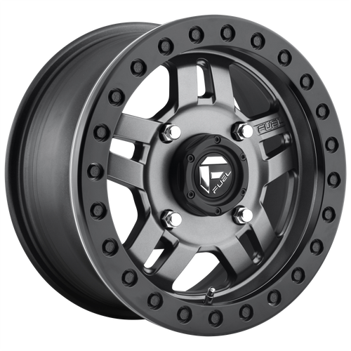 15x7 4x137 4.51BS D918 Anza Matte Gunmetal - Fuel Off-Road