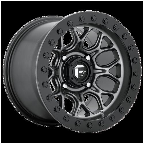 15x7 4x137 5.5BS D919 Tech BL Matte Gunmetal - Fuel Off-Road