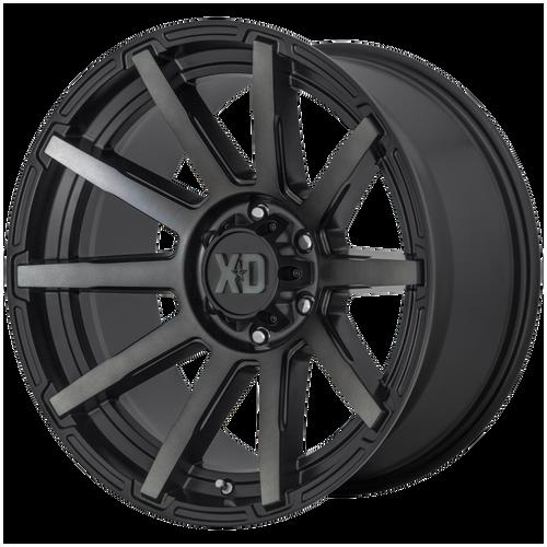 18x9 6x120 5BS XD847 Outbreak Satin Black - XD Wheels