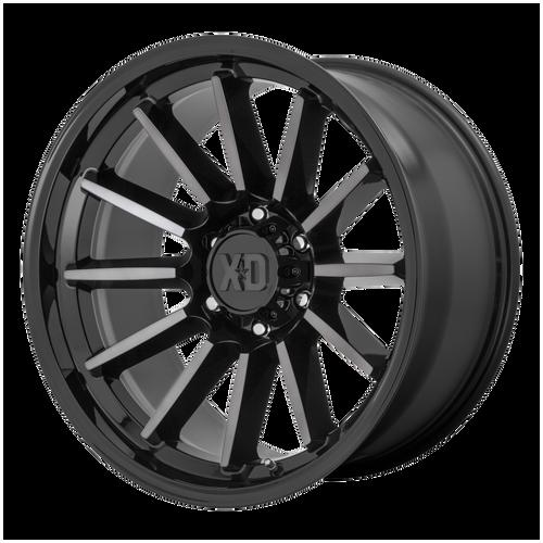 20x10 5x5 4.79BS XD855 Luxe Gloss Black Machined W/Grey - XD Wheels