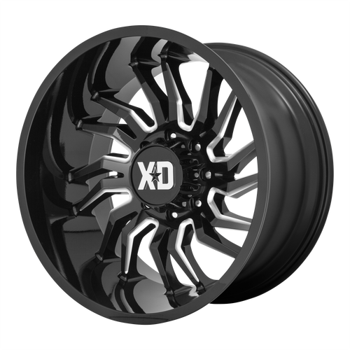 22x12 6x5.5 4.77BS XD858 Tension Gloss Black Milled - XD Wheels