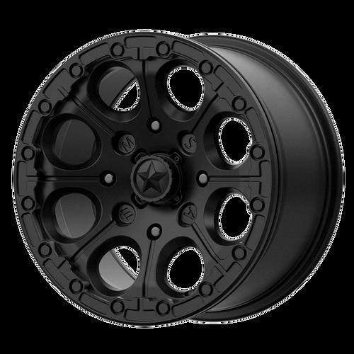 14x7 4x137 4.39BS M44 Cannon Satin Black - MSA Wheels