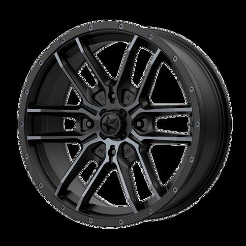 14x7 4x156 4.39BS M43 Fang Satin Black With Titanium Tint - MSA Wheels