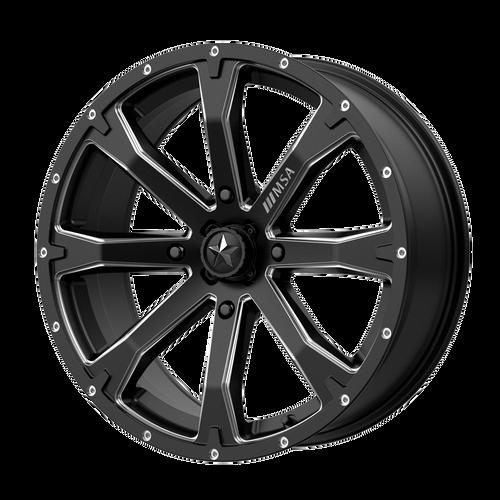 18x7 4x156 4.39BS M42 Bounty Satin Black Milled - MSA Wheels