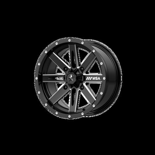 15x7 4x110 4.39BS M41 Boxer Gloss Black Milled - MSA Wheels