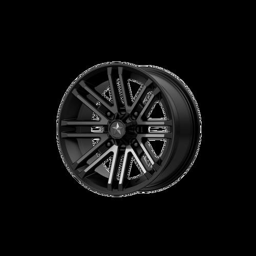14x7 4x156 4.39BS M40 Rogue Satin Black - MSA Wheels