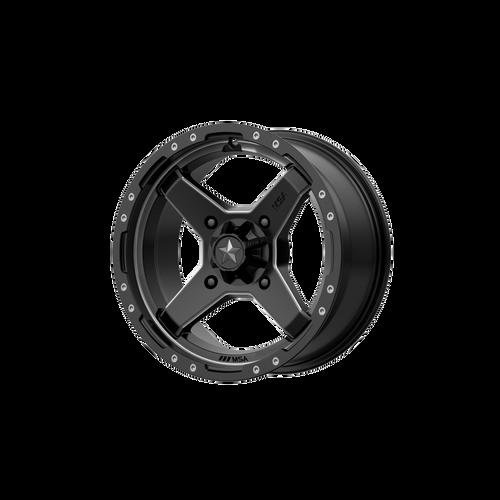 15x7 4x137 4.39BS M39 Cross Satin Black Titanium Tint - MSA Wheels
