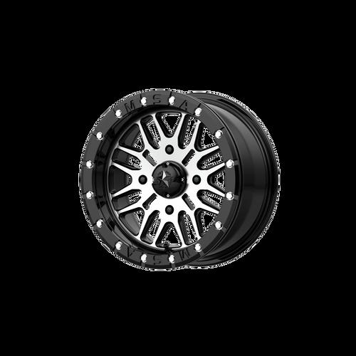 14x7 4x110 4.39BS M37 Brute Gloss Black Machined - MSA Wheels
