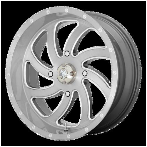24x7 4x156 4BS M36 Switch Brushed Titanium - MSA Wheels