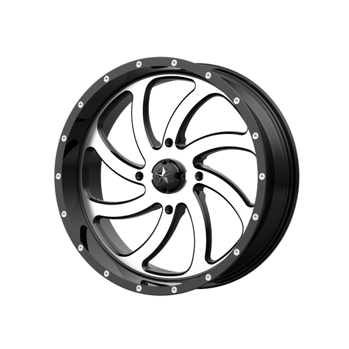 24x7 4x137 4BS M36 Switch Machined Gloss - MSA Wheels
