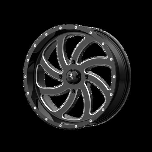 18x7 4x137 4BS M36 Switch Gloss Black - MSA Wheels