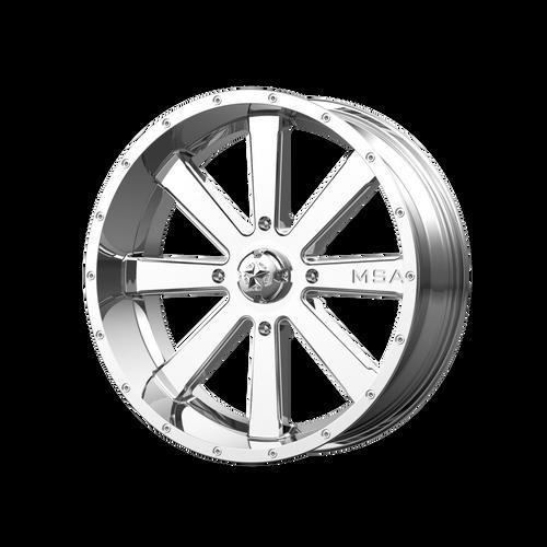 24x7 4x156 4BS M34 Flash Chrome - MSA Wheels