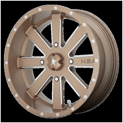 22x7 4x156 4BS M34 Flash Bronze Milled - MSA Wheels