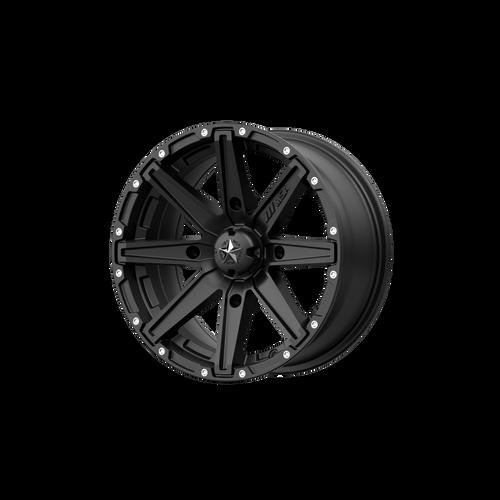 15x7 4x110 4.39BS M33 Clutch Satin Black - MSA Wheels